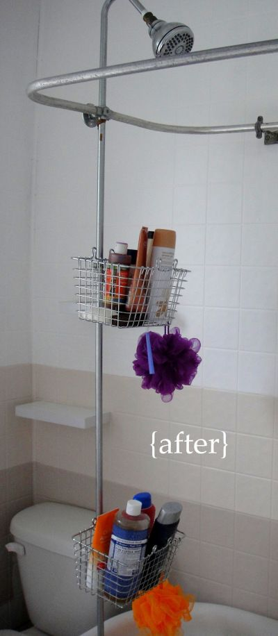 shower pole caddy instructions